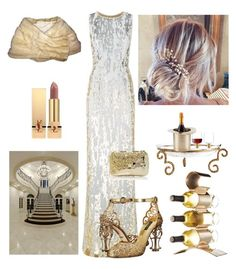 """Ballroom Party"" by kotnourka ❤ liked on Polyvore featuring Jenny Packham, Dolce&Gabbana, Lauren Conrad, Anndra Neen, Lunares, Pier 1 Imports, LSA International and Yves Saint Laurent"