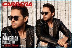 Jared Leto rocks Carrera's Maverick Flow sunglasses.