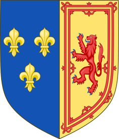 Royal Arms of the Kingdom of Scotland from 1559 to 1560, used by Mary, Queen of Scots and Queen consort of France