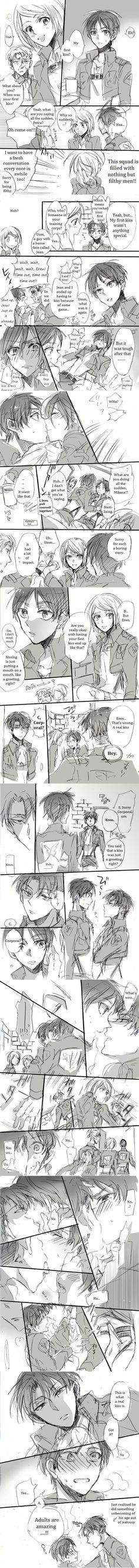 Shingeki no Kyojin - LeviRen - 15歳のファーストキスに嫉妬する三十路  A 30 Year Old Jealous of a 15 Year Old's First Kiss  Artist: 北沢ハルカ