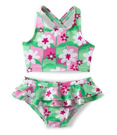 Infant and Toddler Girls' Sea Spray Swimsuit, Two-Piece: Swimwear   Free Shipping at L.L.Bean