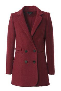 OSA Double Breasted Slim Wool Coat with Suit Collar [FEBK0454] - PersunMall.com