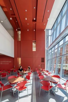 Roosevelt University Academic, Student Life and Residence Center, Chicago IL | Dining Hall | VOA Associates, Architects