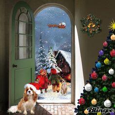 MERRY CHRISTMAS Christmas Animated Gif, Merry Christmas Gif, Christmas Scenes, Christmas Is Coming, Christmas Pictures, Christmas Greetings, Winter Christmas, All Things Christmas, Christmas Time