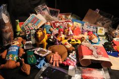 Collection of Vintage Box Top/Cereal/Fast Food Toys, via Etsy.