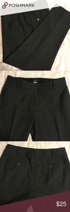 Charcoal EUC Loft 'Julie'  pants Wool/poly blend. Dry cleaned this week and bagged. Julie cut. LOFT Pants Straight Leg