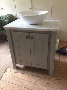 Pavillion Grey Vanity Unit With A Carrara Marble Top Aspenn Furniture Make To Order