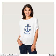 nautical anchor playeras