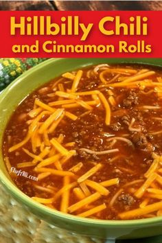 Yep, it's definitely a Midwest Tradition and we ALL love it!: Chili and Cinnamon Rolls.