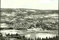 Oppland fylke Gudbrandsdalen Lillehammer utsikt over byen 1950-tallet Utg Normann