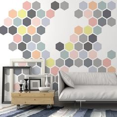 Honeycomb Allover Wall Stencil - Large Stencils for Painting Walls - Try Stencils Instead of Wallpaper - Modern Stencils for Wall Painting - Stencil Designs for DIY Home Décor - Cutting Edge Stencils Large Wall Stencil, Stencil Painting On Walls, Large Stencils, Stencil Diy, Tile Stencils, Honeycomb Wallpaper, Wallpaper Stencil, Wall Wallpaper, Stencil Patterns