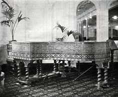 The grand piano in the D-deck Reception Room.