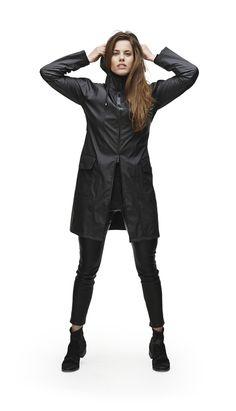 A-Line Rain Jacket - Black (RAINS)