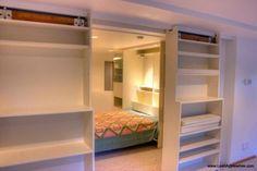 Stashvault: Sliding Bookcase Door Divider