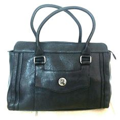 New York & Company Black Structured Purse Beautiful structured bag with zipper closure. Outer pocket with magnetic snap closure. Zipper compartment inside bag. Barely used and in great condition! New York & Company Bags