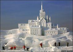 Snow Sculpture Castle