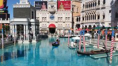 Gondola rides outside the Venetian