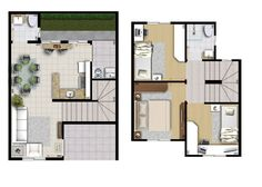 10 models of plants for houses Indian House Plans, My House Plans, House Floor Plans, Small Villa, Moraira, Indian Homes, Little Houses, Minimalist Home, Conceptual Design