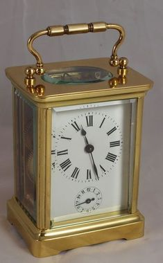 French alarm carriage clock