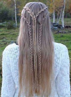 Lace braids to English & Fishtail braid . Lace braids to English & Fishtail braid Latest Hairstyles, Down Hairstyles, Summer Hairstyles, Pretty Hairstyles, Braided Hairstyles, Wedding Hairstyles, Hairstyle Ideas, Hairstyles 2018, Beautiful Haircuts