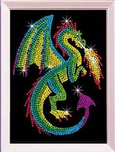 Sequin Art Dragon | Hobbies
