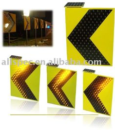 chevron broden met verlichting (solarpowered)