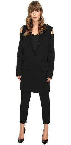 Cross the line to captivating.  Inspire interest in the unique #VeraWang #Long #Sleeve #Knit #Coat with #Cold #Shoulder. #jacket #outerwear #apparel #clothing