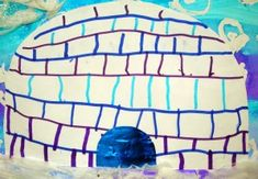 Des igloos en moyenne section Plus Art For Kids, Crafts For Kids, Arts And Crafts, Un Igloo, Art Lessons Elementary, Winter Trees, North Pole, Tour, Continents