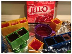 Lego jello molds! Great for a party!