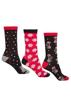 3PK Christmas Cat Socks #bonmarche #socks