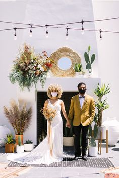 An intimate desert-chic sustainable elopement | 100 Layer Cake | Bloglovin' Red Bridesmaids, Red Bridesmaid Dresses, Wedding Dresses, Wedding 2015, Spring Wedding, Wedding Day, Intimate Weddings, Real Weddings, Planning A Small Wedding