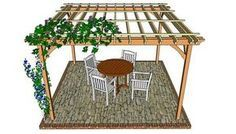 This step by step diy woodworking project is about pergola design. If you have a backyard and you want to add value to your property, we strongly recommend you to consider building a pergola or an arbor. Pergola Patio, Deck With Pergola, Backyard Patio, Diy Patio, Modern Pergola, Covered Pergola, Pergola Shade, Patio Ideas, Wedding Pergola