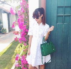#dresscolorfully @Mara Ferreira in our tobin dress at coachella