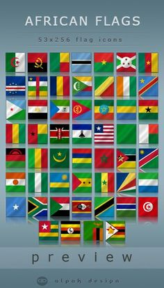 Flags of Beautiful Africa