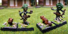 Lini, female gnome druid (and fox familiar) #rpg #D #pathfinder #miniatures #wargames From http://frikidiario.blogspot.com.es