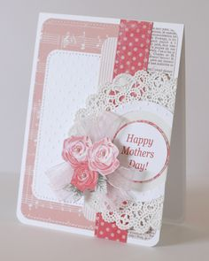 My creative corner: Mother's Day cards...or could be a Valentine card