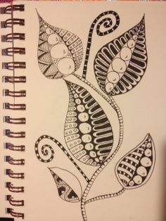 Zentangles Leaves! I love these leaves.