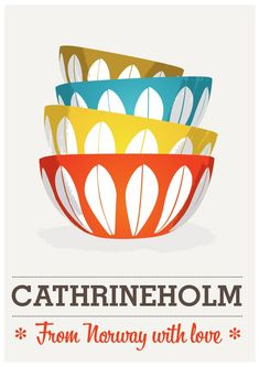 Cathrineholm - From Norway with Love poster A2 size (16 x 23 inch, 42 x 59 cm )