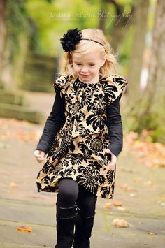 Velvet dress how cute for a little girl!