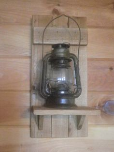 Rustic Shelf lantern not included by mockingbirdprimitive on Etsy, $25.00