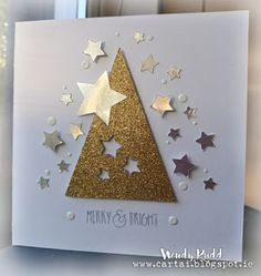 On behalf of all of the Paper Players, I want to thank you for playing along with our challenges this year. We have greatly . Chrismas Cards, Simple Christmas Cards, Christmas Card Crafts, Homemade Christmas Cards, Christmas Cards To Make, Xmas Cards, Christmas Greetings, Diy Cards, Handmade Christmas