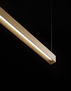 LED oak pendant lamp LANACOTTA - Olev by CLM Illuminazione