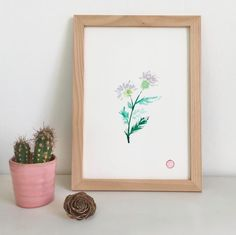 Qui s'y frotte s'y pique • symbole de l'Écosse 🏴󠁧󠁢󠁳󠁣󠁴󠁿 Illustrations, Frame, Home Decor, Pen Illustration, India Ink, Water Colors, Pique, Picture Frame, Decoration Home
