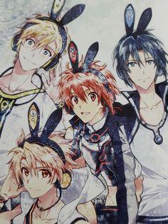 Nagi-Mitsuki-Riku-Iori Cute Anime Boy, I Love Anime, All Anime, Anime Guys, Bandai Namco Entertainment, Anime Nerd, Anime Music, Ensemble Stars, Manga Boy