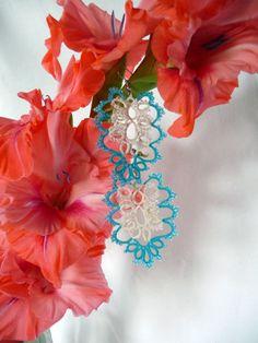 Reminder! SALE in my shop continues. 20% discount on purchase over 30 dollars. Coupon code:  HAPPYCHRISTMAS Welcome! Нагадування! РОЗПРОДАЖ в моєму магазині триває. 20% знижка на покупку більше 30 доларів. Код купону: HAPPYCHRISTMAS Tatted earrings-gift for her-wedding by FairyLacebyElena on Etsy