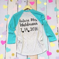 Bride Baseball Shirt. Custom Bride Shirt. by BrideAndEntourage