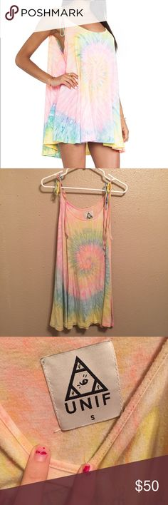 UNIF Tye Die Dress Perfect condition dress! No longer sold. Size small UNIF Dresses Mini