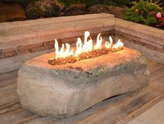 Pick one of our unique natural stone fire pits to fit the theme of your outdoor entertaining area. Having a stone fire pit will enhance the beauty and versatility of your outdoor living space. How To Build A Fire Pit, Diy Fire Pit, Fire Pit Backyard, Patio Gas, Patio Gazebo, Outside Fire Pits, Gas Fire Pits, Fire Pit Landscaping, Landscaping Ideas