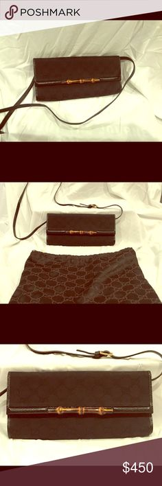 Gucci clutch Adorable Gucci convertible clutch. Can also be worn as a cross body. Make offers Gucci Bags Clutches & Wristlets