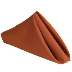 """Burnt Orange 17""""x17"""" Napkins 5pcs 